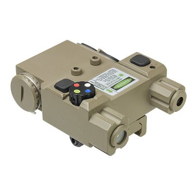 Green Laser & 4 Color NAV LED w/QR Mount/ TAN
