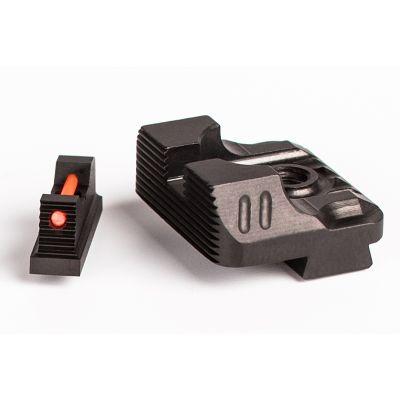 Zev Sight Set .215 Fiber Optic Front, Combat v3 Black Rear